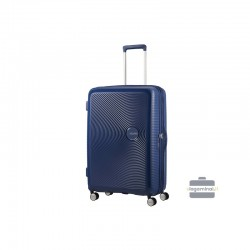 Liels koferis American Tourister Soundbox D dark blue