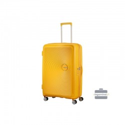 Liels koferis American Tourister Soundbox D dzeltens